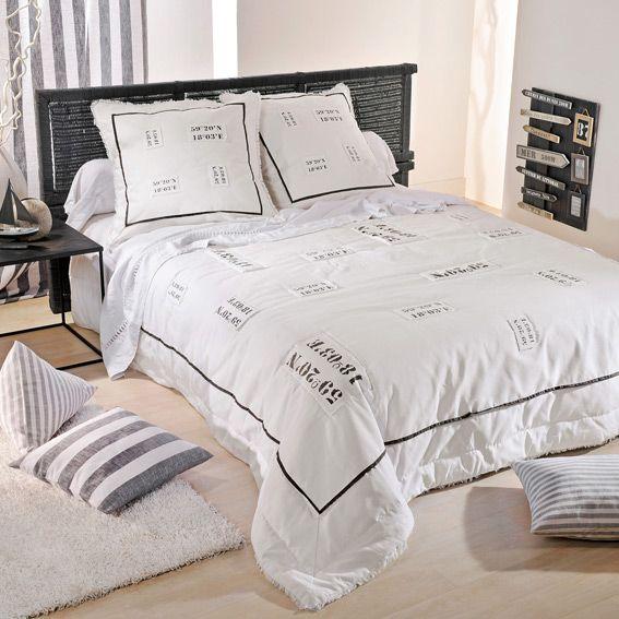 boutis et taies d 39 oreiller 230 x 250 cm cap horn eminza. Black Bedroom Furniture Sets. Home Design Ideas