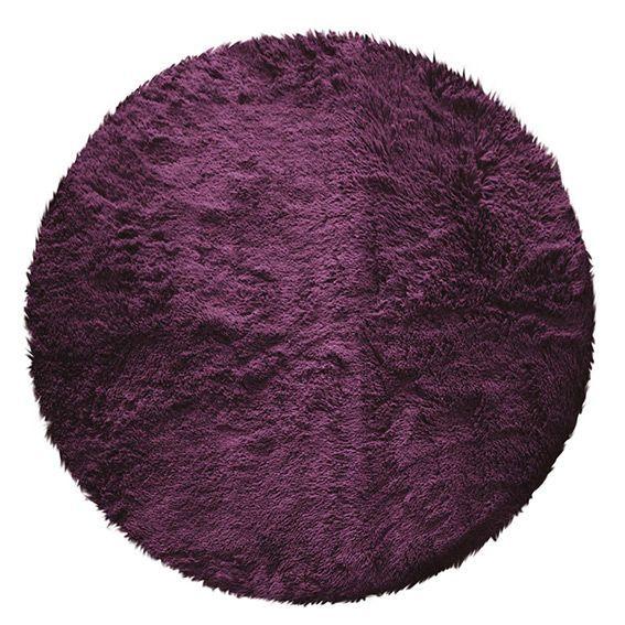 tapis rond marmotte aubergine eminza. Black Bedroom Furniture Sets. Home Design Ideas