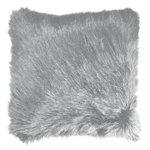 housse de coussin imitation fourrure grizzly gris clair eminza. Black Bedroom Furniture Sets. Home Design Ideas