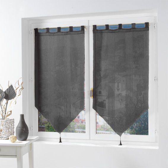 voilage vitrage largeur 90 cm rideau et voilage eminza. Black Bedroom Furniture Sets. Home Design Ideas