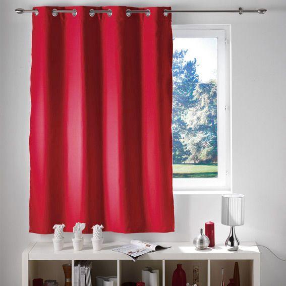 rideau occultant 140 x h180 cm lumia rouge rideau. Black Bedroom Furniture Sets. Home Design Ideas