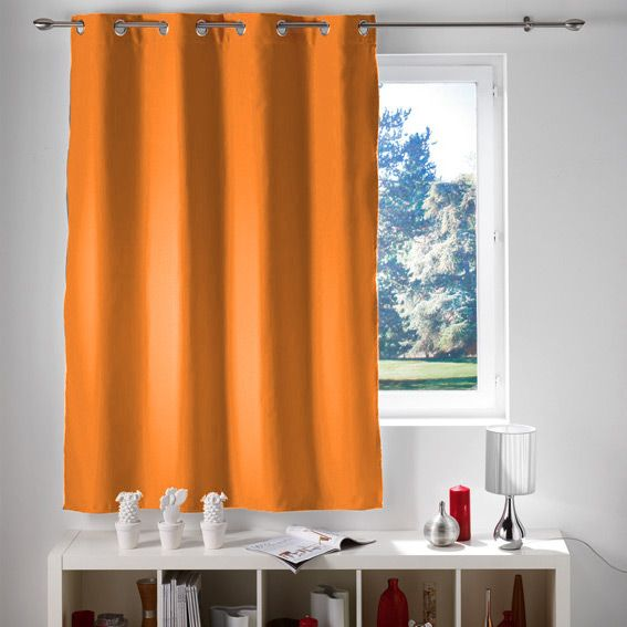 Rideau occultant (140 x H180 cm) Lumia Orange - Rideau / Voilage ...