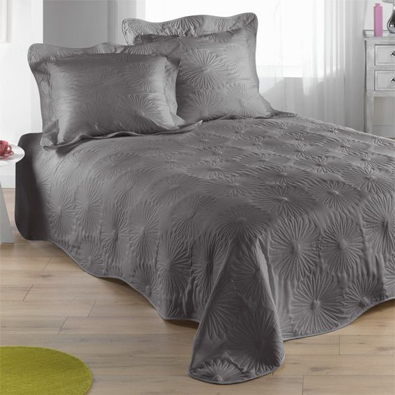 couvre lit 250 Couvre lit (230 x 250 cm) matelassé Neptune Gris   Couvre lit  couvre lit 250