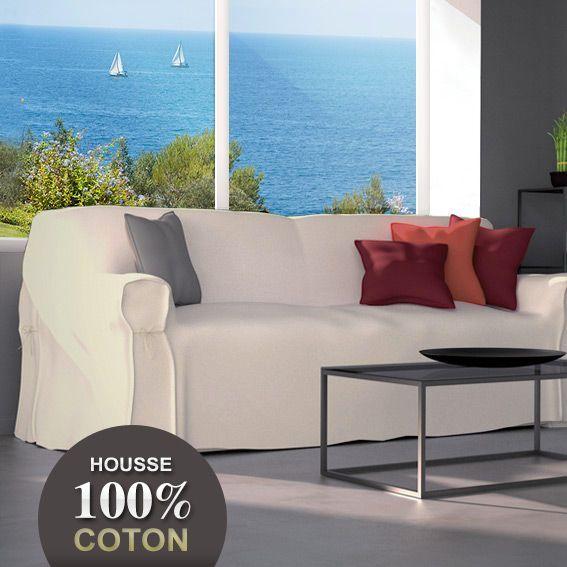 housse de canap contemporaine lin eminza. Black Bedroom Furniture Sets. Home Design Ideas