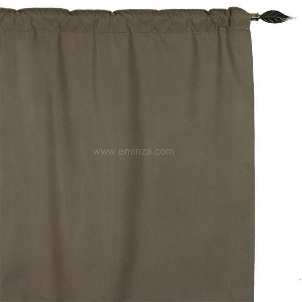 Rideau de porte thermique (100 x H220 cm) Igloo Taupe clair - Rideau ...