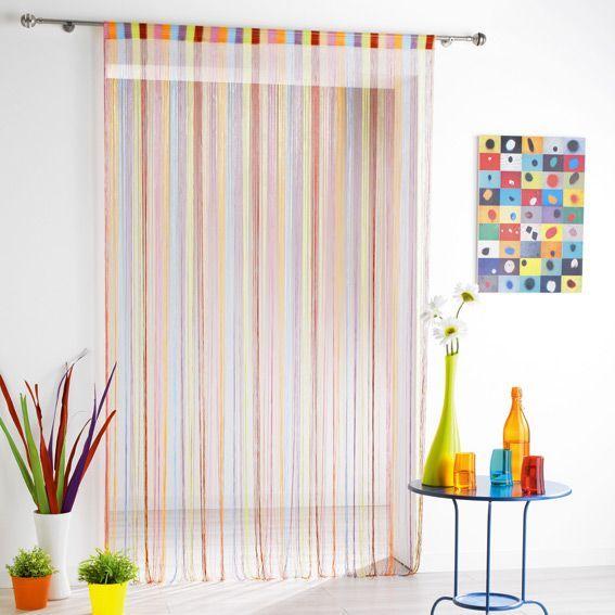 Rideau de fil 140 x h240 cm circus multicolore - Rideau de fil ...