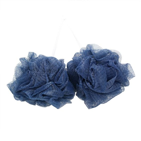 Lot De 2 Fleurs De Bain Bleu Accessoire Salle De Bain Eminza