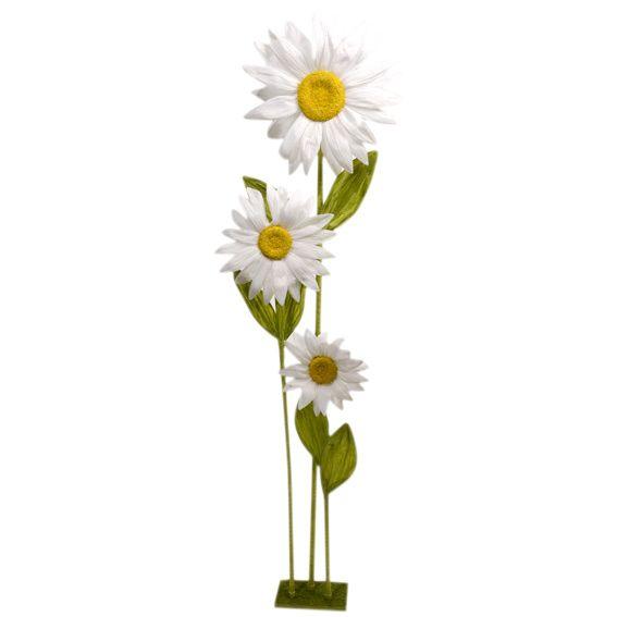 Grande Fleur De Tournesol Blanc Paques Eminza