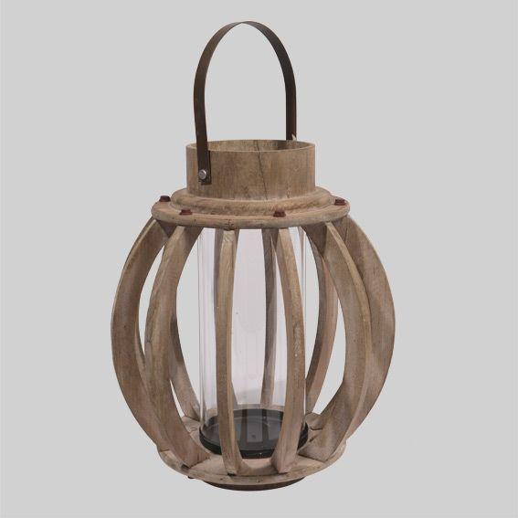 Lanterne bella di legno naturel piccolo mobilio da for Lanterne in legno