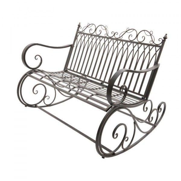 banc de jardin bascule fer forg brun am nagement d. Black Bedroom Furniture Sets. Home Design Ideas