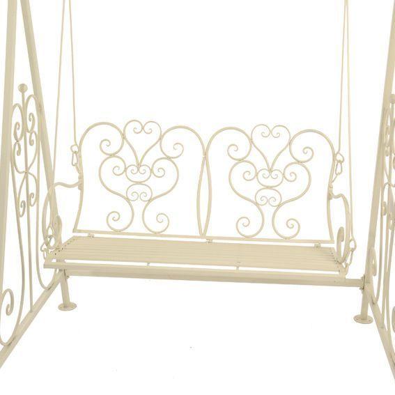 balancelle elisabeth style fer forg ecru mobilier style. Black Bedroom Furniture Sets. Home Design Ideas