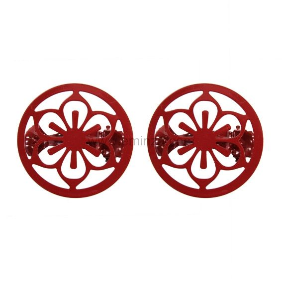 Lot de 2 pinces Flora Rouge