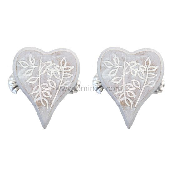 Lot de 2 pinces Coeur de Laurier Gris - Rideau / Voilage / Store ...