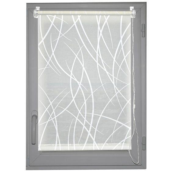 store enrouleur tamisant 45 x h180 cm bali blanc rideau voilage store eminza. Black Bedroom Furniture Sets. Home Design Ideas