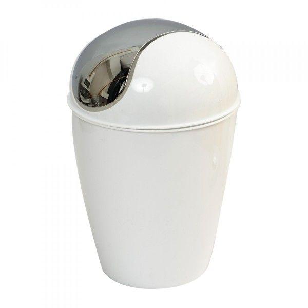 Mini poubelle happy blanc poubelle eminza - Mini poubelle salle de bain ...