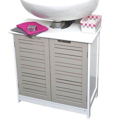 meuble dessous lavabo romantic taupe meuble de salle de bain eminza. Black Bedroom Furniture Sets. Home Design Ideas