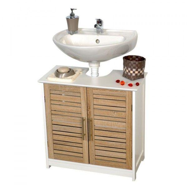 meuble dessous lavabo stockholm bois meuble de salle de bain eminza. Black Bedroom Furniture Sets. Home Design Ideas