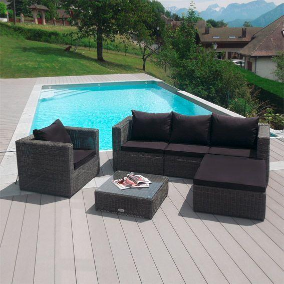 salon de jardin goa gris 5 places salon de jardin eminza. Black Bedroom Furniture Sets. Home Design Ideas