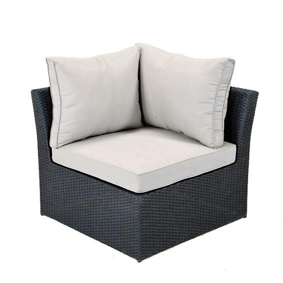 Salon de jardin, table et chaise + Noir + Résine tressée - Eminza