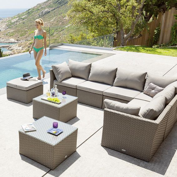 Beautiful Salon De Jardin Ibiza Taupe Photos - Awesome Interior Home ...