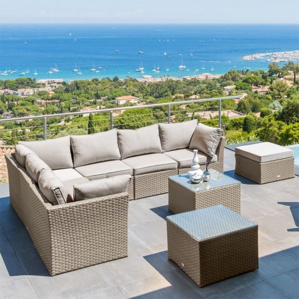 Salon de jardin taupe - catalogue 2019 - [RueDuCommerce - Carrefour]