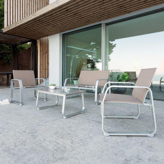 Salon de Jardin Gili Taupe - 4 places - Salon de jardin - Eminza