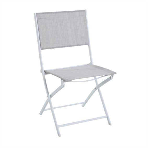 Chaise Modula Gris chiné - Salon de jardin, table et chaise - Eminza