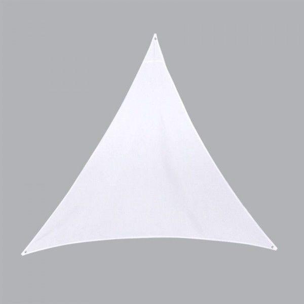voile d 39 ombrage triangulaire l4 m anori blanc. Black Bedroom Furniture Sets. Home Design Ideas