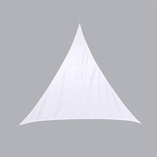 Voile d'ombrage Triangulaire (L3 m) Curacao - Blanc