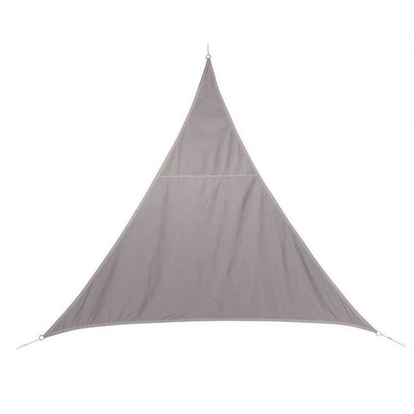 Voile d'ombrage Triangulaire (L4 m) Curacao - Taupe