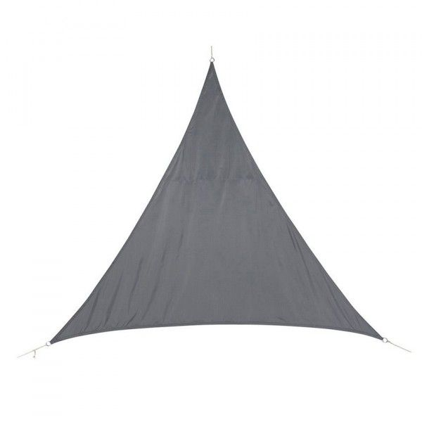 Voile d'ombrage Triangulaire (L5 m) Curacao - Gris