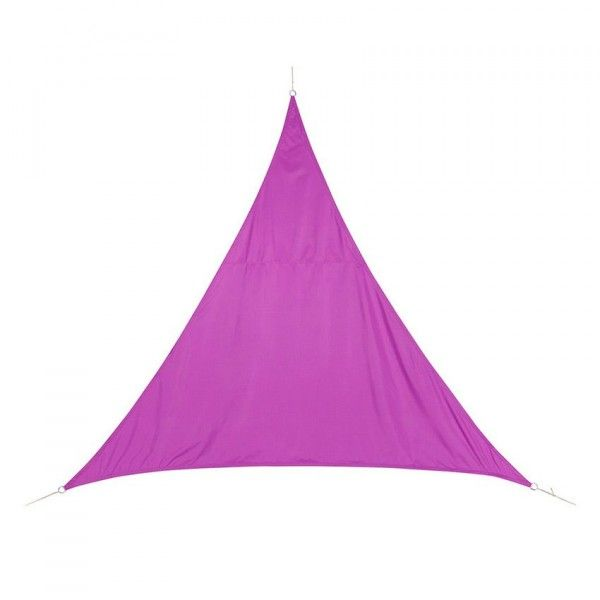 Voile d'ombrage Triangulaire (L5 m) Curacao - Violet