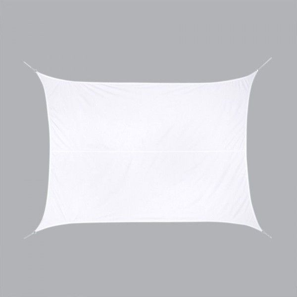 Voile d'ombrage Rectangulaire (3 x 4 m) Curacao - Blanc