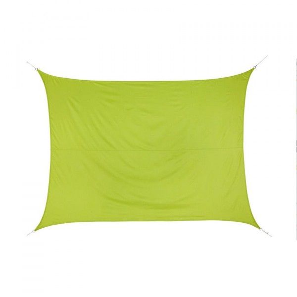 Voile d'ombrage Rectangulaire (3 x 4 m) Curacao - Vert anis