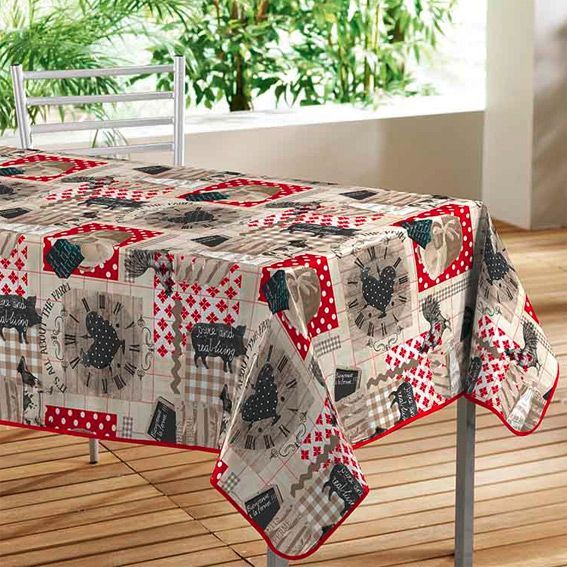Nappe rectangulaire la ferme l140 cm toile cir e eminza for Nappe toile ciree rectangulaire