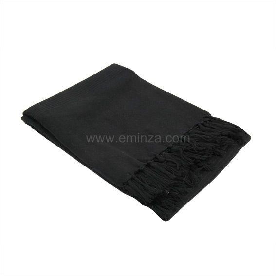 Jet de canap 150 cm lana noir jet de canap eminza - Jete de canape noir ...