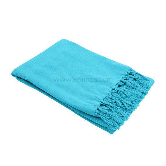 jet de canap 150 cm lana bleu turquoise d co textile eminza. Black Bedroom Furniture Sets. Home Design Ideas