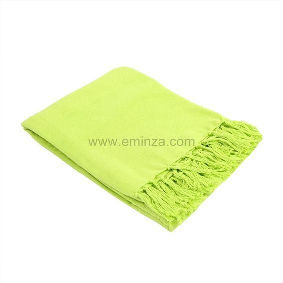 Jet de canap 150 cm lana vert anis plaid et jet s eminza - Canape vert anis ...