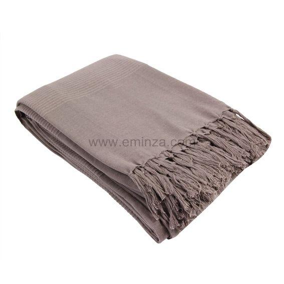 jet de canap 240 cm lana taupe d co textile eminza. Black Bedroom Furniture Sets. Home Design Ideas
