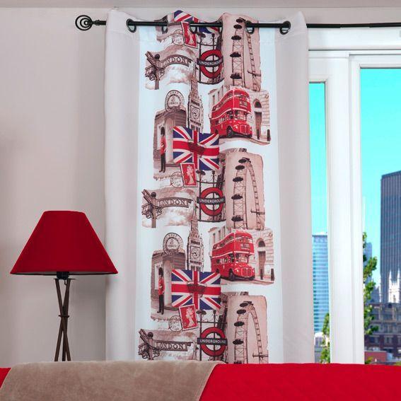Rideau occultant (135 x H260 cm) London - Rideau / Voilage / Store ...