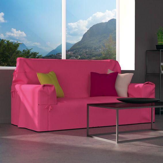 Housse de canap chaise eminza - Housse clic clac rose ...