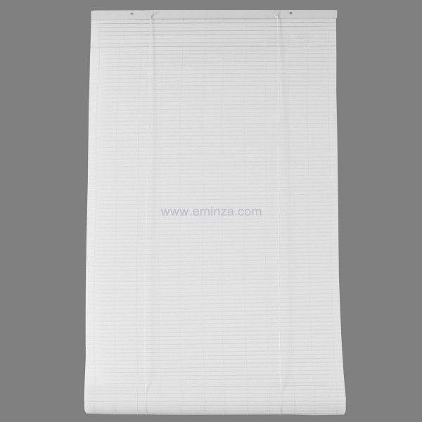Store enrouleur à lattes (150 x H180 cm) PVC Blanc - Rideau ...