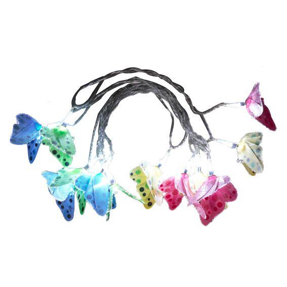 Guirlande lumineuse papillon multicolore eminza - Guirlande lumineuse multicolore ...