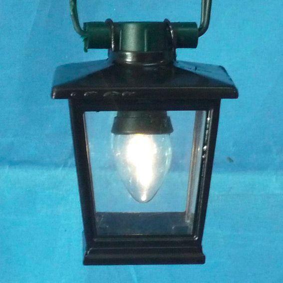 guirlande de 6 lanternes de jardin noir - Lanterne De Jardin