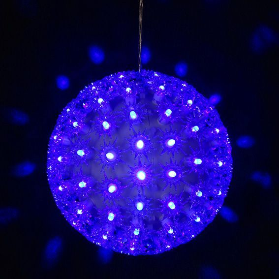 Suspension lumineuse LED Boule Bleu