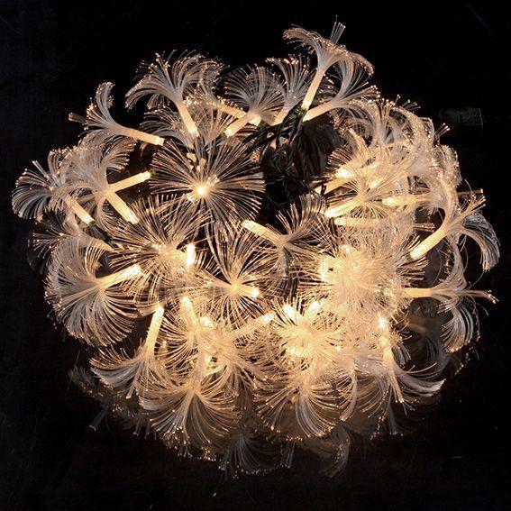 Fibre Optique Decoration Lumineuse : Guirlande lumineuse fibre optique lola blanc chaud eminza