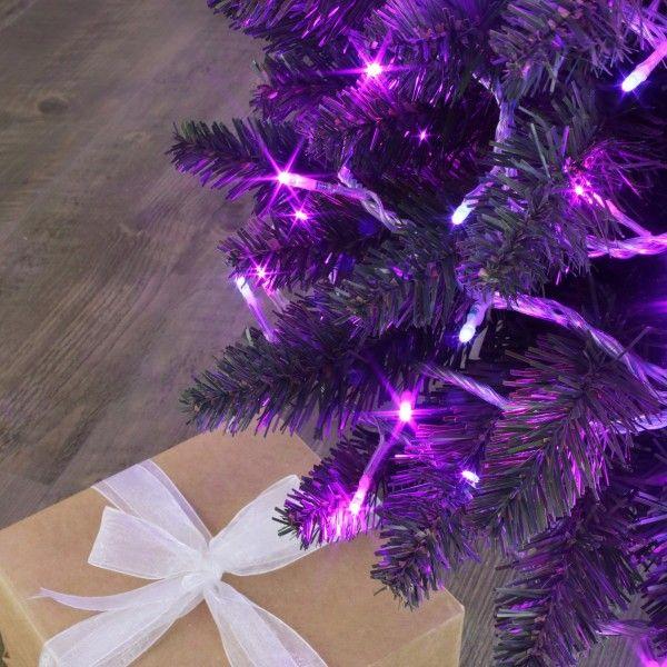 Tweekleurige Lichtsnoer 8 M Roze En Paars 128 Led Kerstverlichting
