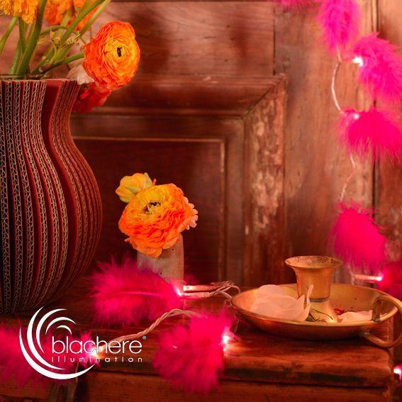 Guirlande lumineuse Plumes Rose