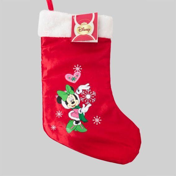 chaussette de nol en satin minnie multicolore - Chaussette De Noel Disney