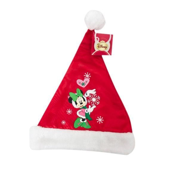 Bonnet de Noël Disney satin Minnie